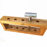 Safety Razor with wood stand